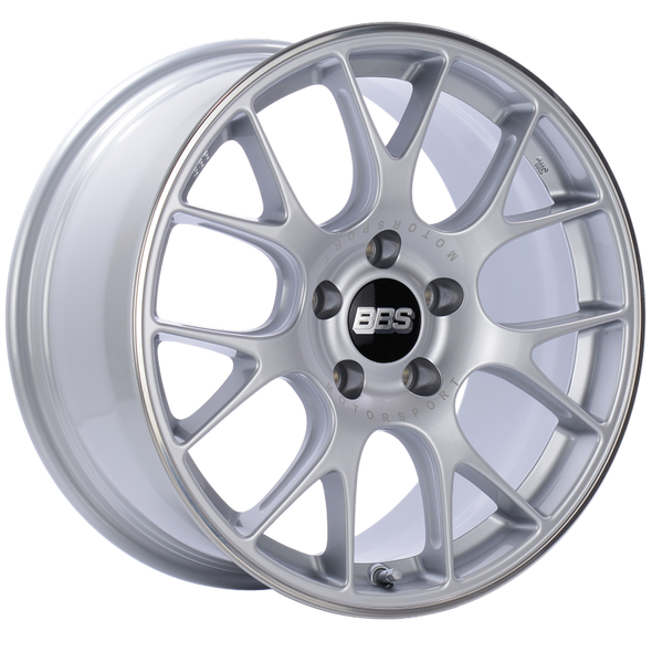 BBS CH-R 18x8.5 5x112 ET38 Brilliant Silver Polished Rim Protector Wheel -82mm PFS/Clip Required