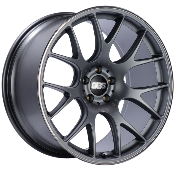 BBS CH-R 20x10.5 5x112 ET25 Satin Titanium Polished Rim Protector Wheel -82mm PFS/Clip Required
