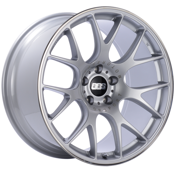 BBS CH-R 20x10.5 5x112 ET25 Brilliant Silver Polished Rim Protector Wheel -82mm PFS/Clip Required