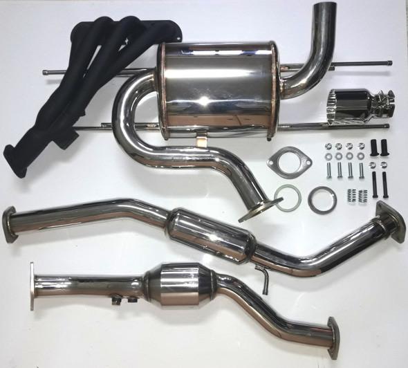 AVO 2016 Mazda Miata MX5 ND NA Power Kit - Filter / Inlet / Header / ECU / Single Tip Exhaust