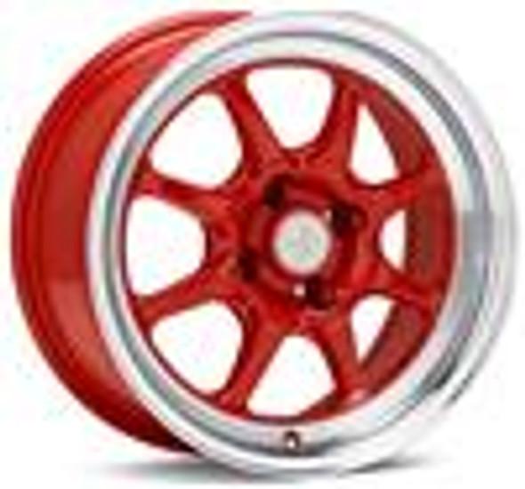 Enkei J-Speed Classic Line 15x8 25mm Offset 4x100 Bolt Pattern Red Wheel