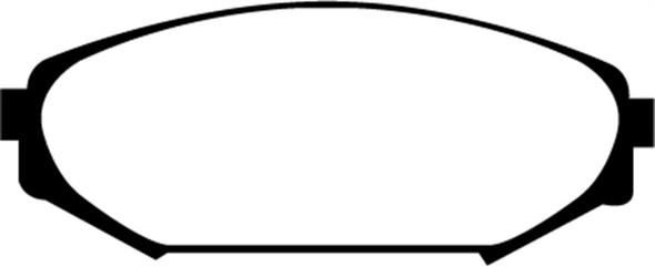EBC 00-02 Acura MDX 3.5 Greenstuff Front Brake Pads