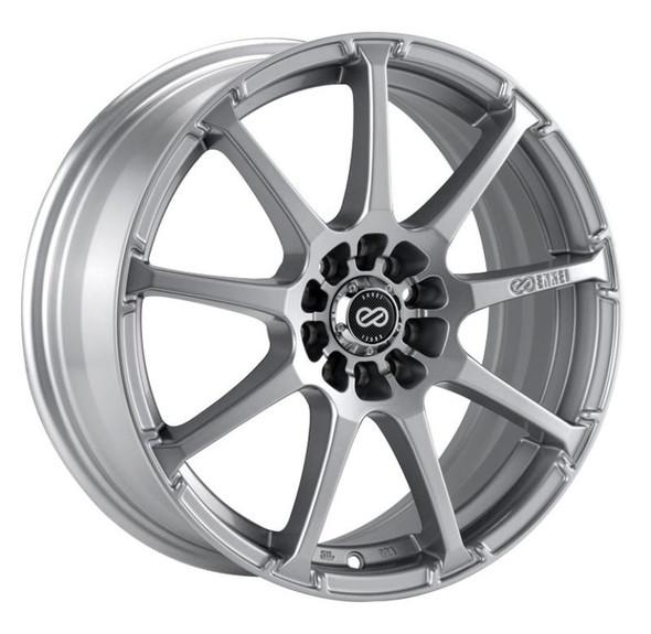 Enkei EDR9 16x7 4x100/114.3 45mm Offset 72.6 Bore Diameter Silver Wheel
