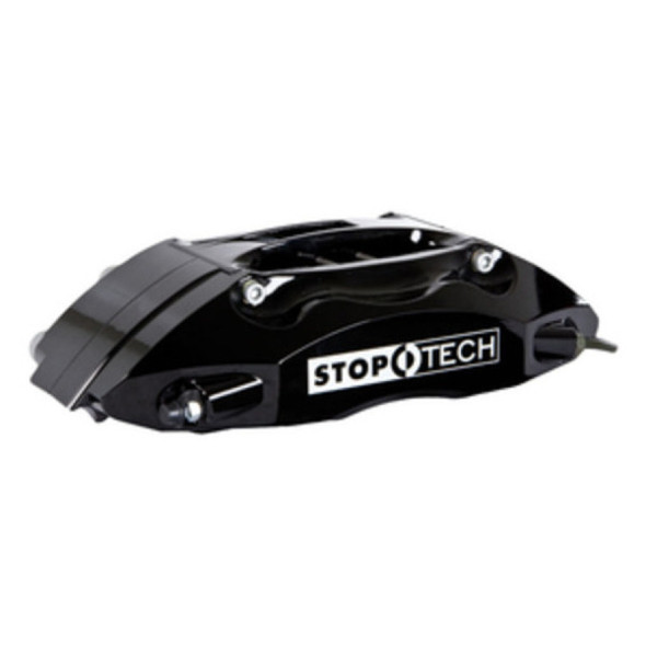 StopTech 08-12 WRX STi Front BBK ST40 355x32 Slotted Rotors Black Calipers