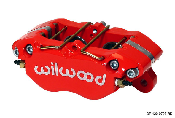 Wilwood Caliper-Dynapro 5.25in Mount - Red 1.38in Pistons .81in Disc