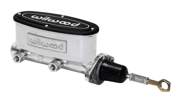Wilwood High Volume Tandem M/C - 7/8in Bore Ball Burnished-W/Pushrod - Early Mustang