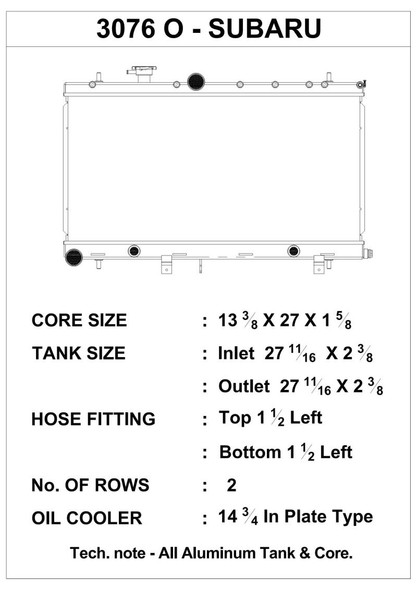 CSF 02-07 Subaru WRX/STI Radiator w/Built-In Oil Cooler/Filler Neck