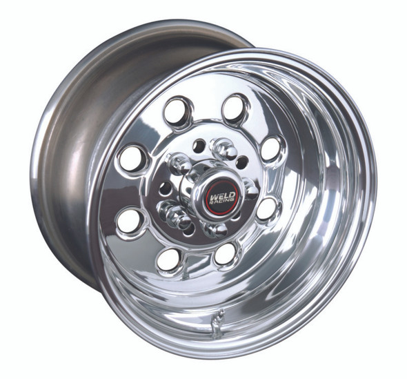 Weld Draglite 15x10 / 4x108 & 4x4.5 BP / 6.5in. BS Polished Wheel - Non-Beadlock