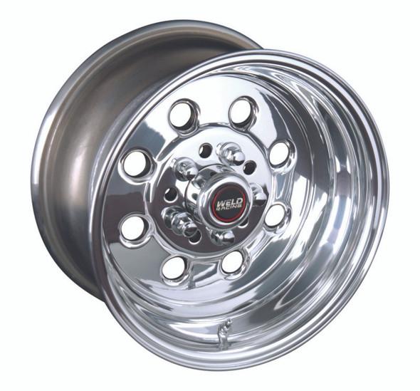 Weld Draglite 15x4 / 5x4.5 & 5x4.75 BP / 1.875in. BS Polished Wheel - Non-Beadlock