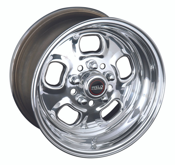Weld Rodlite 15x4 / 5x4.5 & 5x4.75 BP / 1.875in. BS Polished Wheel - Non-Beadlock