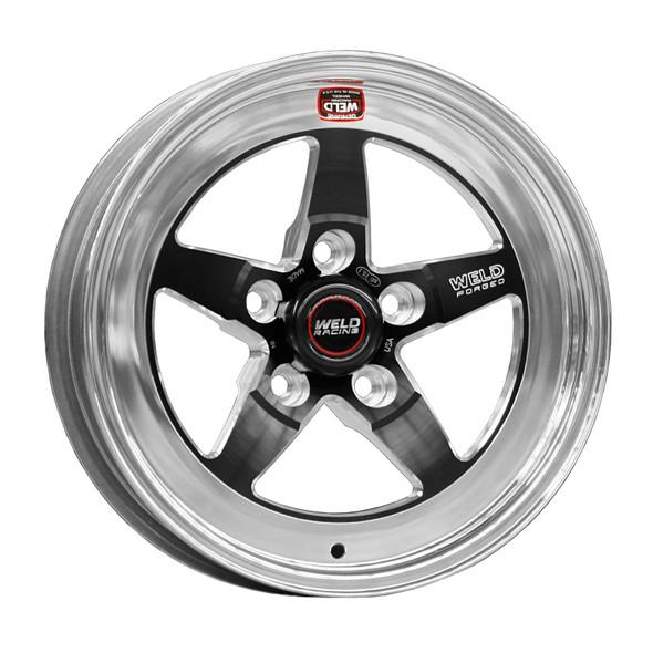 Weld S71 15x4 / 5x4.5 BP / 2.5in. BS Black Wheel (Low Pad) - Non-Beadlock