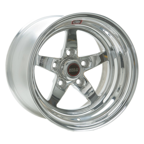 Weld S71 15x4 / 5x4.5 BP / 2.5in. BS Polished Wheel (Low Pad) - Non-Beadlock