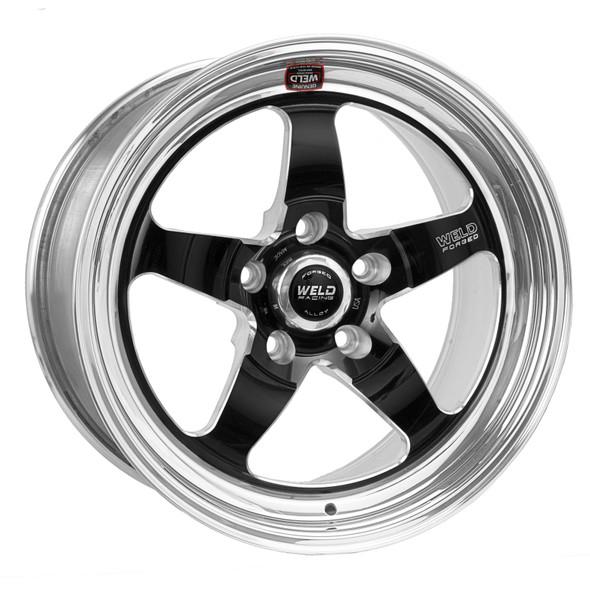 Weld S71 17x4.5 / 5x4.5 BP / 2.2in. BS Black Wheel (Medium Pad) - Non-Beadlock