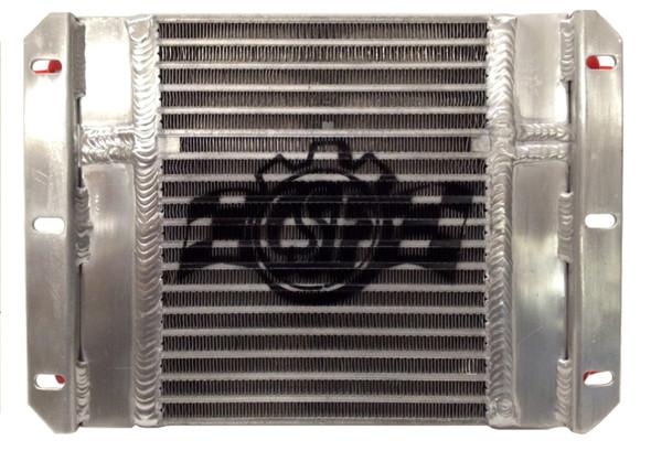 CSF Dual Fluid Bar & Plate HD Oil Cooler w/9in SPAL Fan (1/3 & 2/3 Partition) - 13.8in L x 10in H