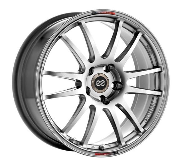 Enkei GTC01 19x8.5 5x114.3 42mm Offset 75mm Bore Hyper Black Wheel 06-10 Civic Si