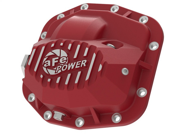 aFe Pro Series Front Differential Cover Red 2018+ Jeep Wrangler (JL) V6 3.6L (Dana M186)
