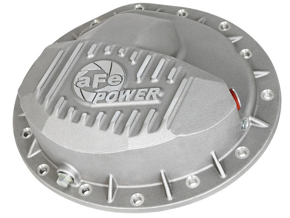 afe Front Differential Cover (Raw; Street Series); Dodge Diesel Trucks 03-12 L6-5.9/6.7L (td)
