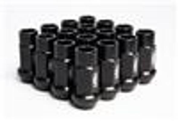 BLOX Racing Street Series Forged Lug Nuts - Black 12 x 1.5mm - Set of 20 (New Design)