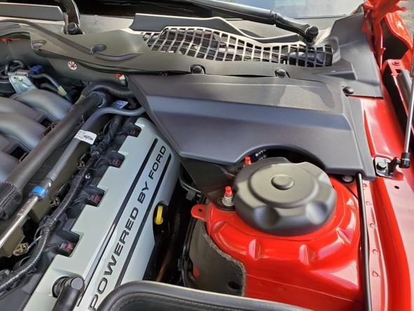 JLT 15-19 Ford Mustang Black Textured Master Cylinder Cover