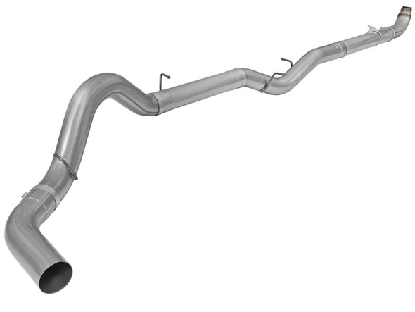aFe Atlas 5in DP-Back Aluminized Steel Side Exit Exht GM Diesel Trucks 01-10 V8-6.6L (td) No Muffler