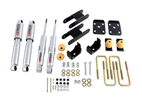 Belltech 2015 GM Colorado/Canyon Ext Cab Short Bed Lowering Kit w/ND II Shocks - 0-3in F/4in R Drop