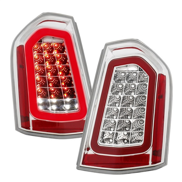 ANZO 11-14 Chrysler 300 LED Taillights Chrome w/ Sequential