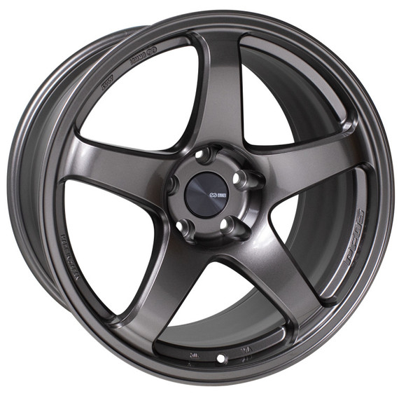 Enkei PF05 16x7 4x100 45mm Offset 75mm Bore Dark Silver Wheel