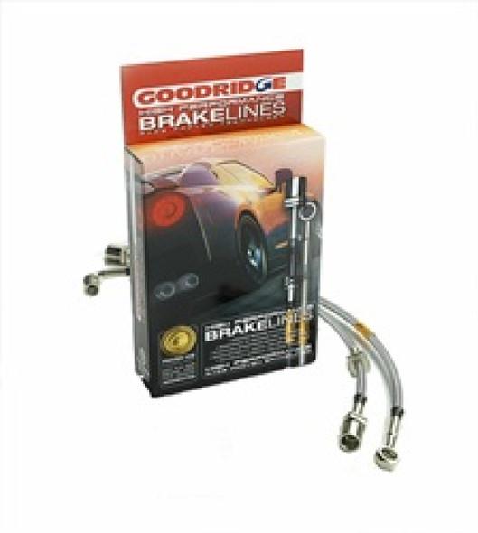 Goodridge 00-01 Dodge Ram 1500 4WD 4 Wheel ABS w/o Ride Height Sensor SS Brake Line Kit