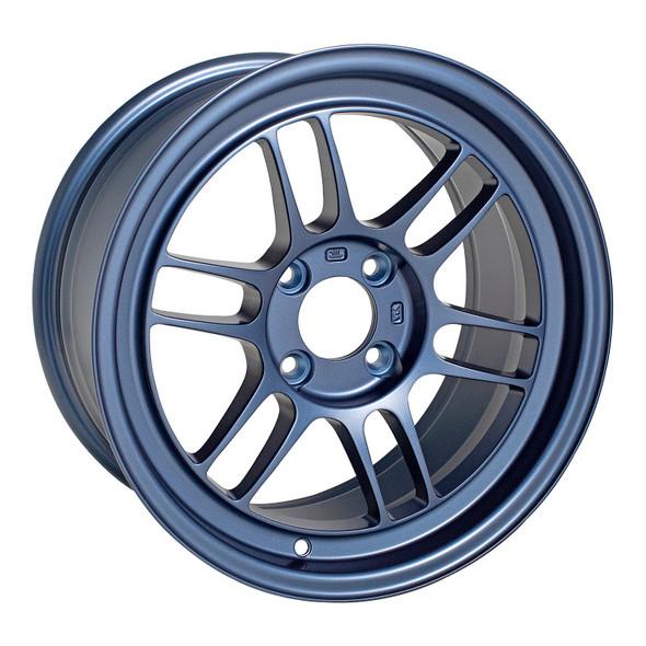 Enkei RPF1 15x8 4x100 28mm Offset 5 Hub Bore Matte Blue Wheel - 11.64Lbs