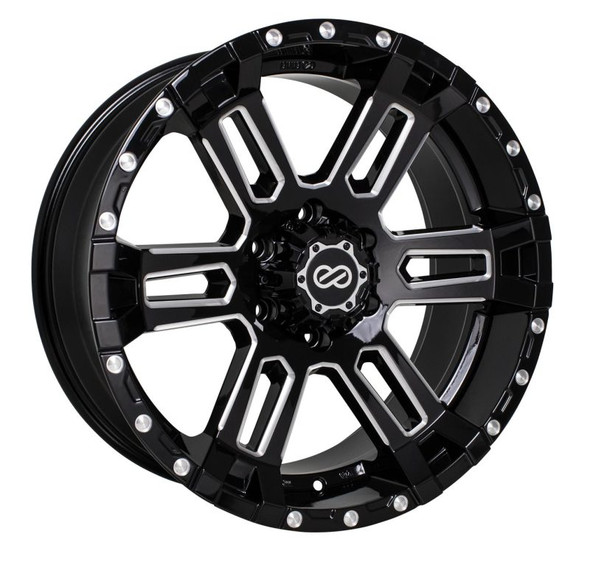 Enkei Commander 17x8 20mm Offset 5x127 Bolt Pattern 71.6 Bore Black Machined Wheel