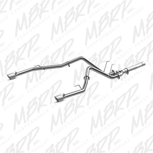 MBRP 2014 Dodge Ram 1500 3.0L EcoDiesel 2.5in Filter Back Exhaust Dual Split Rear Exit Alum