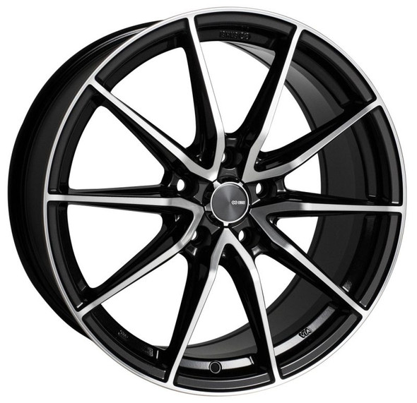 Enkei DRACO 17x7.5 5x114.3 38mm Offset 72.6mm Bore Black Machined Wheel