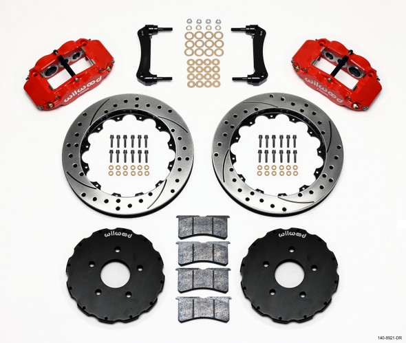Wilwood Narrow Superlite 6R Front Hat Kit 13.06in Drill Red 2005-up Corvette C6