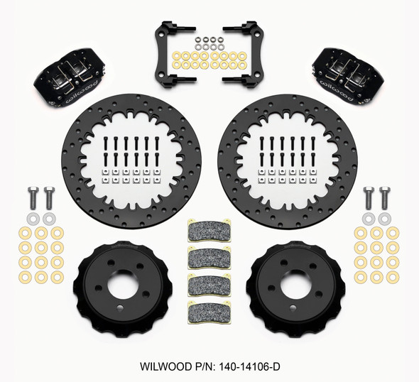 Wilwood Dynapro Radial Rear Drag Kit 12.90in Drilled 2015-Up Mustang