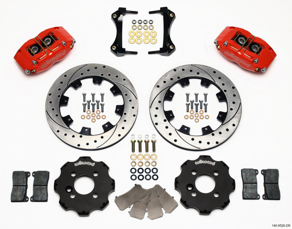 Wilwood Dynapro Radial Front Kit 12.19in Drilled Red Mini Cooper