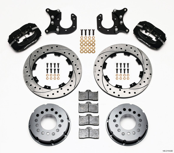 Wilwood Forged Dynalite P/S Rear Kit Drilled Rotor New Big Ford 2.50in Offset