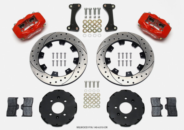 Wilwood Forged Dynalite Front Hat Kit 12.19in Drilled Red 90-99 Civic w/240 mm Disc