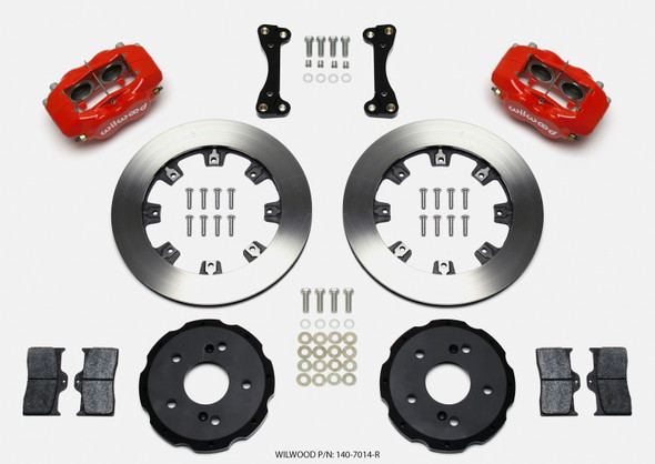 Wilwood Forged Dynalite Front Hat Kit 12.19in Red 02-06 Acura RSX-5 Lug