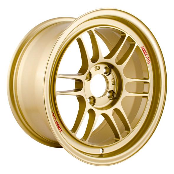 Enkei RPF1 15x8 4x100 28mm Offset 75mm Bore Gold Wheel