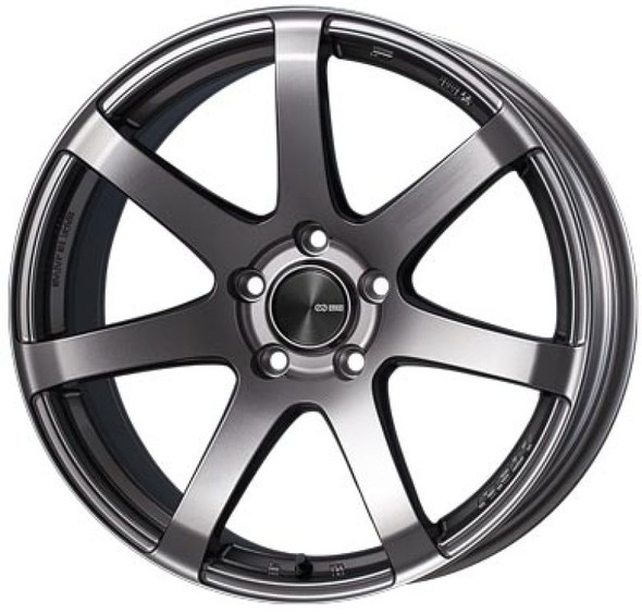 Enkei PF07 17x9 5x114.3 20mm Offset 75mm Bore Dark Silver Wheel *Special Order/No Cancel*