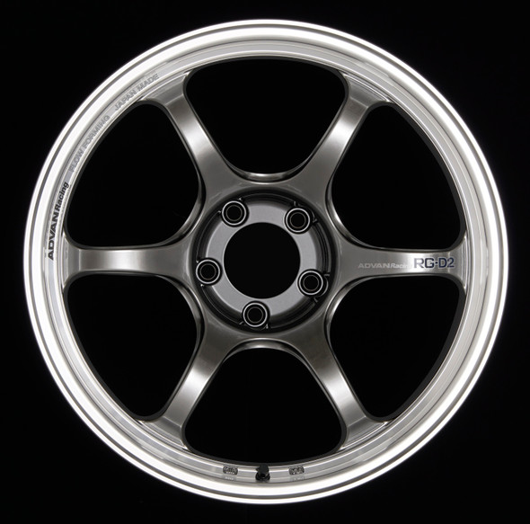 Advan RG-D2 17x8.0 +35 4-100 Machining & Racing Hyper Black Wheel