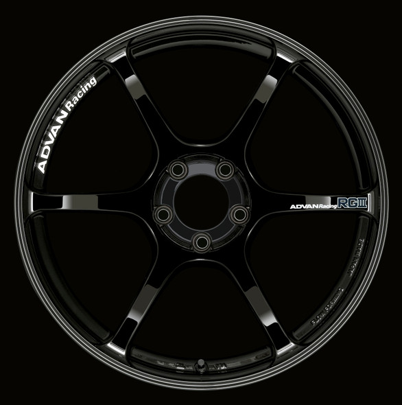 Advan RGIII 17x8.0 +38 5-114.3 Racing Gloss Black Wheel