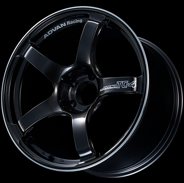 Advan TC4 17x8 +54 5x114.3 Racing Black Gunmetallic and Ring Wheel