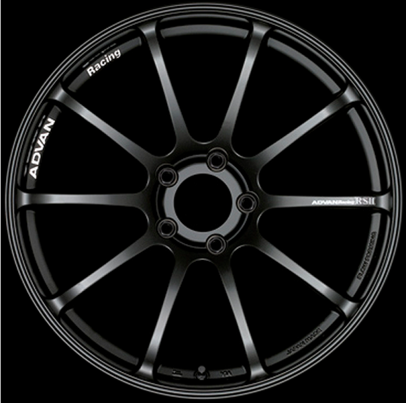 Advan RSII 17x7.5 +48 5-114.3 Semi Gloss Black Wheel