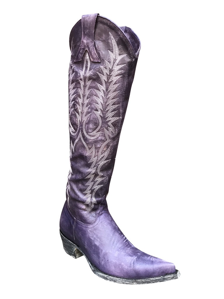 "Old Gringo Dirty Purple Custom  17"" Mayra Boots"
