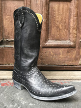 black studded cowboy boots