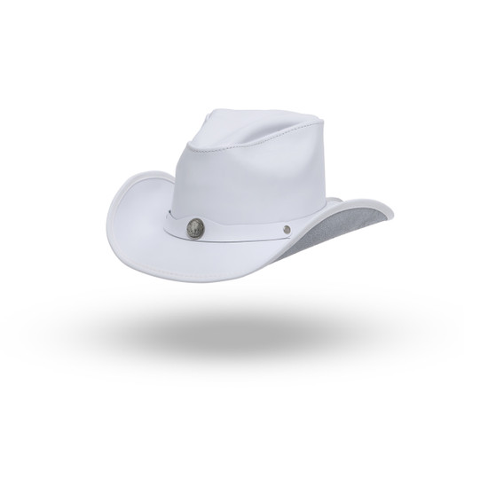 White Wayz  Premium Leather Hat