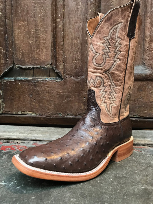 Rios of Mercedes Nicotine Full Quill Ostrich Boots