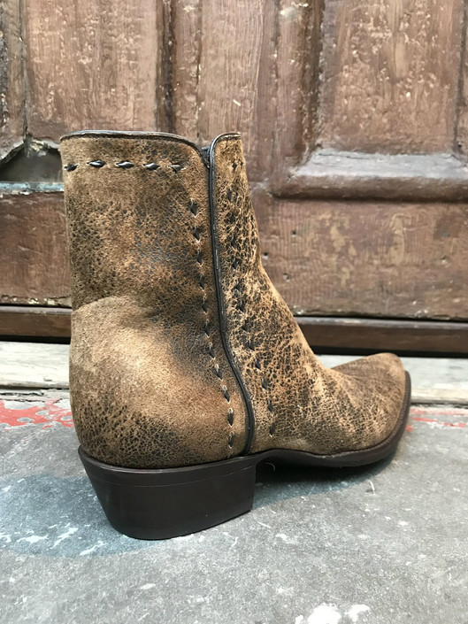 Vintage Tan Nu-Buck Zorro Ankle Boot