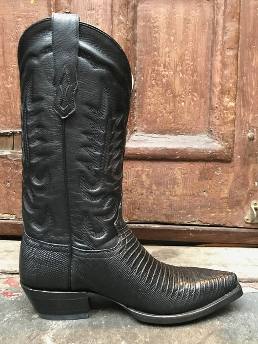 Planet Cowboy Teju Lizard Pointy Toe Boots